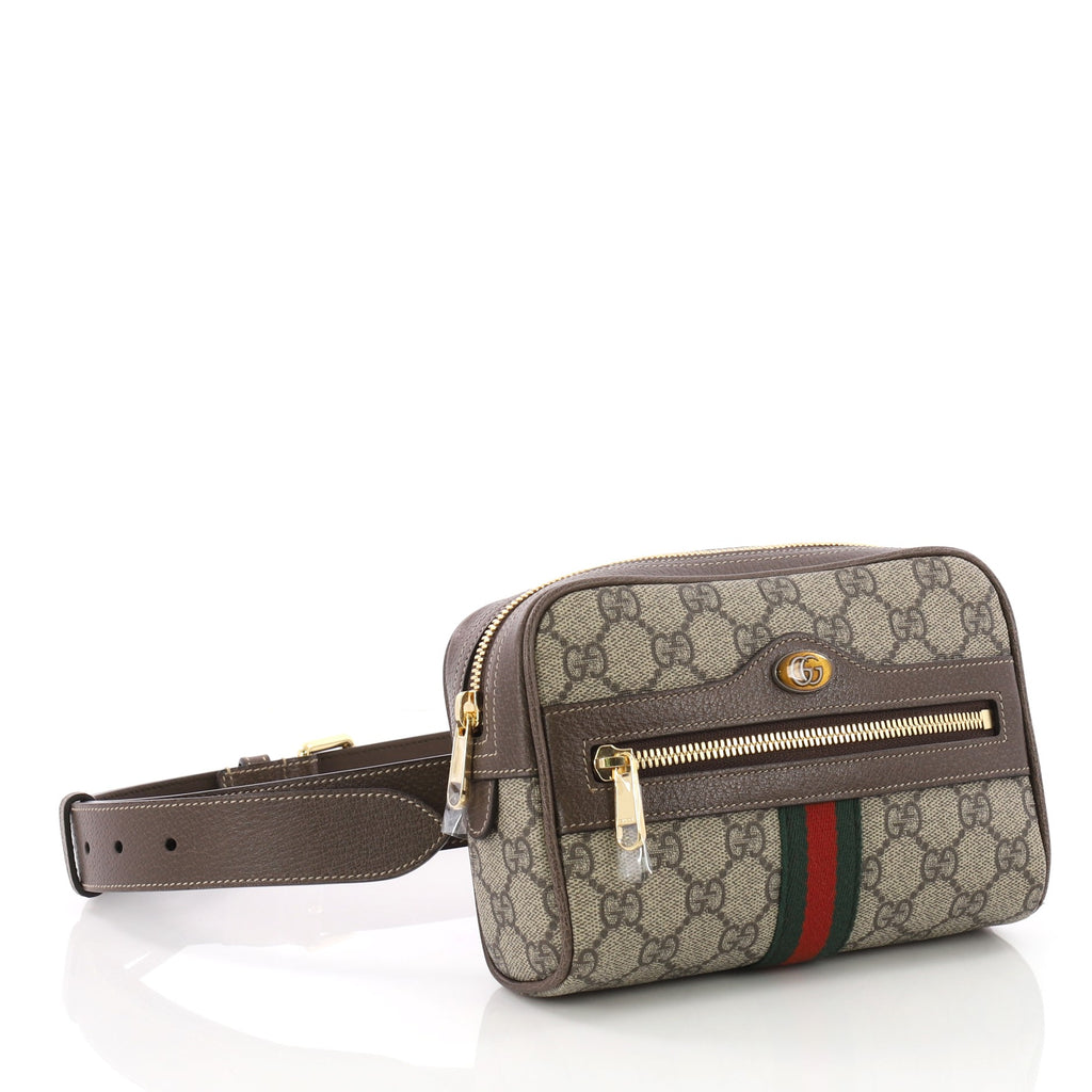 8819913bc Gucci Ophidia Belt Bag GG Coated Canvas Small Brown 3666601 – Rebag