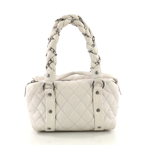 2e42d81719d8 Chanel Lady Braid Bowler Bag Quilted Distressed Lambskin 3668702 – Rebag