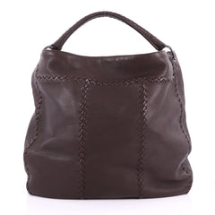 Bottega Veneta Hobo with Rings Leather with Intrecciato 3669303