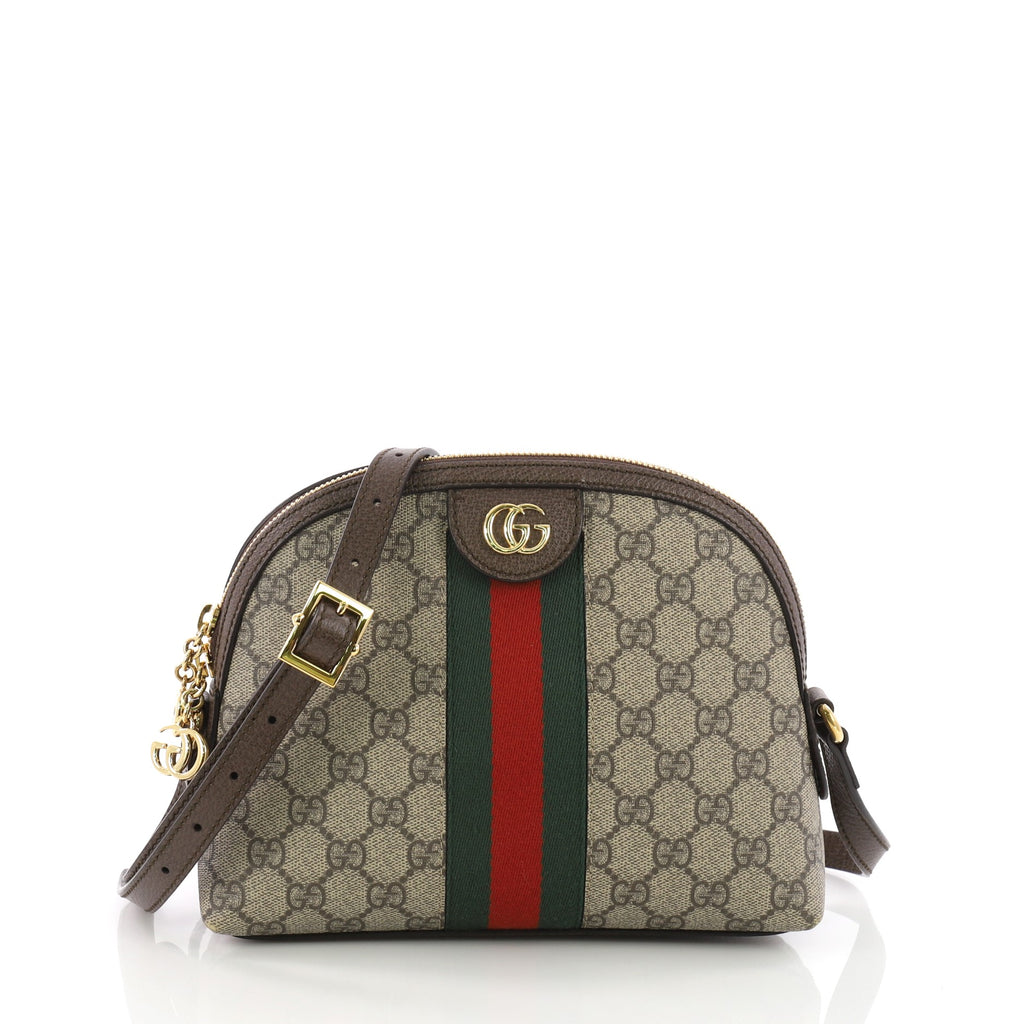 02600b13093c Buy Gucci Ophidia Dome Shoulder Bag GG Coated Canvas Small 3669405 – Rebag