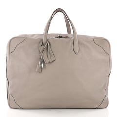 Hermes Victoria II Travel Bag Clemence 50 Gray 3669417