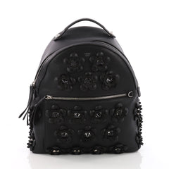 Fendi By The Way Flowerland Backpack Embellished Leather 3669427