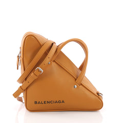 Balenciaga Triangle Duffle Bag Leather Small Yellow 3669456