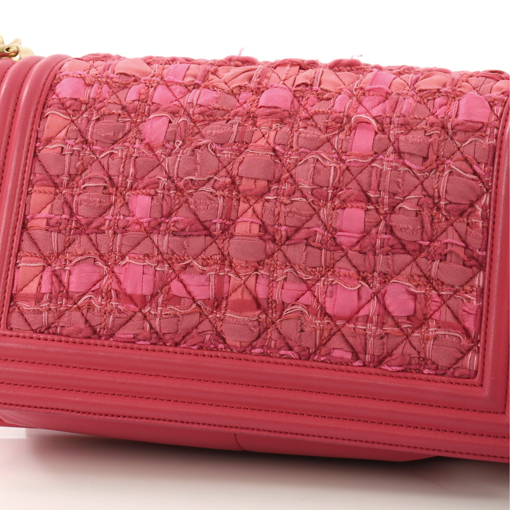 2900c8edbd0a Buy Chanel Boy Flap Bag Quilted Ribbon and Tweed with 3671201 – Rebag