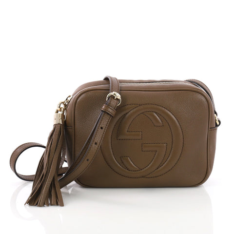 f7501d068e1 Buy Gucci Soho Disco Crossbody Bag Leather Small Brown 3671504 – Rebag