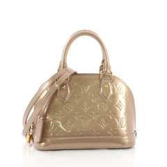 Louis Vuitton Alma Handbag Monogram Vernis BB Brown 3671512