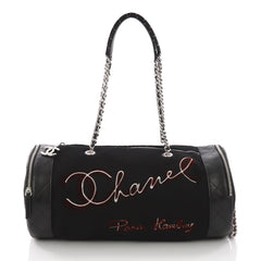 Chanel Paris-Hamburg Duffle Embroidered Wool with 3671527