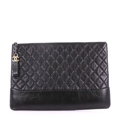 Chanel Gabrielle O Case Clutch Quilted Iridescent Calfskin Large 3674418