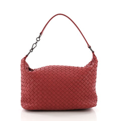 Bottega Veneta Zip Hobo Intrecciato Nappa Small Red 3674429