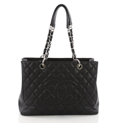 Chanel Grand Shopping Tote Quilted Caviar Black 3677201