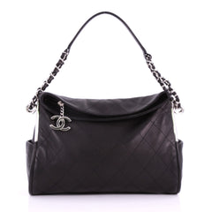 Chanel Ultimate Soft Hobo Quilted Leather Medium Black 3678303