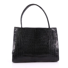 Nancy Gonzalez Wallis Tote Crocodile Medium Black 3678304