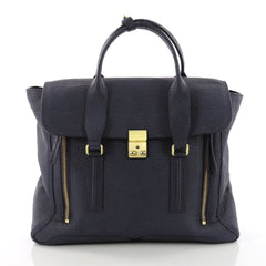 3.1 Phillip Lim Pashli Satchel Leather Large Blue 3678801