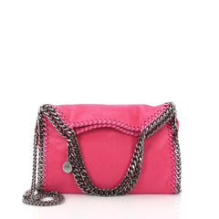 Stella McCartney Falabella Fold Over Crossbody Bag Shaggy Deer Mini Pink 3679901