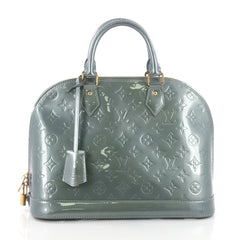 Louis Vuitton Alma Handbag Monogram Vernis PM Green 3680501