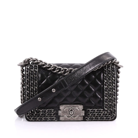 2279ff9b0cb3 Chanel Chained Boy Flap Bag Quilted Glazed Calfskin Small 3680901 – Rebag