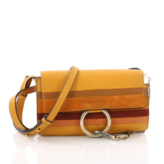 Chloe Faye Shoulder Bag Multicolor Suede with Python 3681003