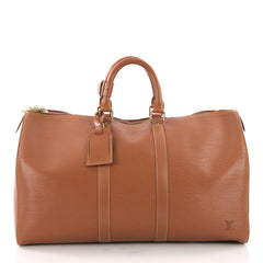 Louis Vuitton Keepall Bag Epi Leather 45 Brown 3683713