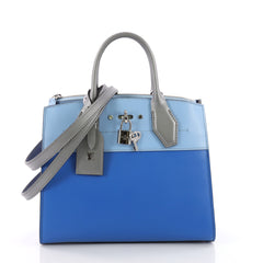 Louis Vuitton City Steamer Handbag Leather PM Blue 3684104
