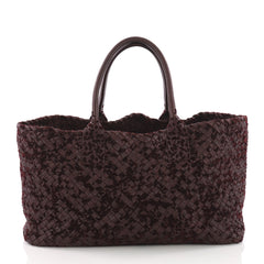 Bottega Veneta Cabat Tote Velours and Intrecciato Nappa 3684130
