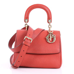 Christian Dior Be Dior Bag Pebbled Leather Mini Red 3686001