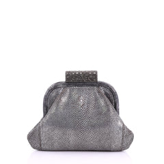 Chanel Soft Frame Clutch Stingray Small