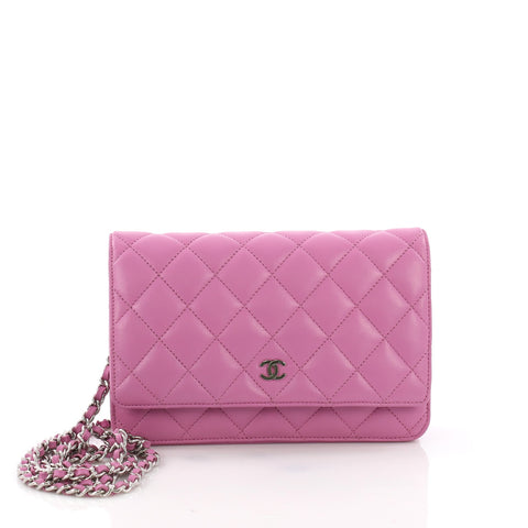 f8481563b7b9 Chanel Wallet on Chain Quilted Lambskin Purple 3689303 – Rebag