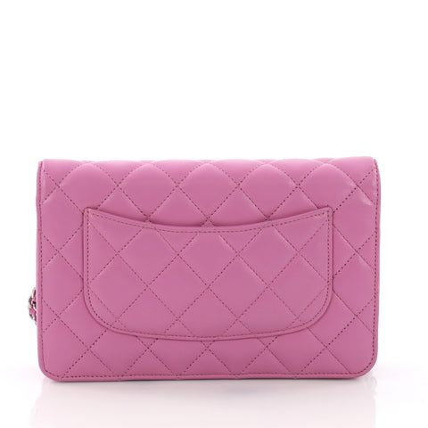 Chanel Wallet on Chain Quilted Lambskin Purple 3689303 – Rebag 1cc2ccd27e09e