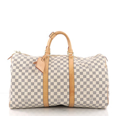 Louis Vuitton Keepall Bag Damier 50 White 3690211