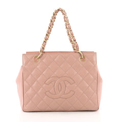 Chanel Petite Timeless Tote Quilted Caviar Pink 3690220