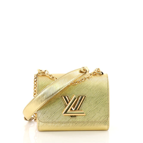 99c2151811e9 Louis Vuitton Twist Handbag Epi Leather PM Gold 3690304 – Rebag