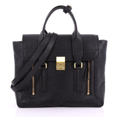 3.1 Phillip Lim Pashli Satchel Leather Medium Black 3691905