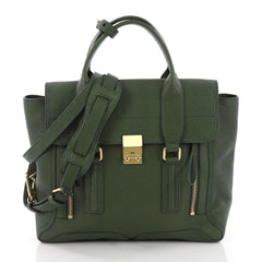 3.1 Phillip Lim Pashli Satchel Leather Medium Green 3691906