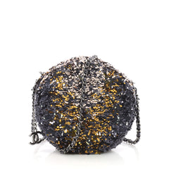 Chanel Model: Round Crossbody Bag Sequins Blue 36927/02