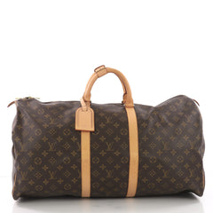 Louis Vuitton Keepall Bag Monogram Canvas 55 Brown 3694012