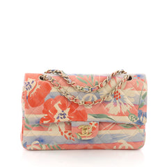 Chanel Classic Double Flap Bag Tropical Flower Print Quilted Lambskin 3694078
