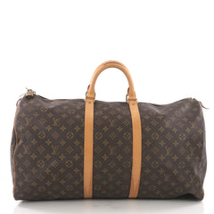 Louis Vuitton Keepall Bag Monogram Canvas 55 Brown 3694080