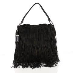 Prada Camouflage Fringe Hobo Tessuto and Leather Large - Rebag