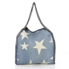Stella McCartney Falabella Tote Printed Denim Small Blue 3694337