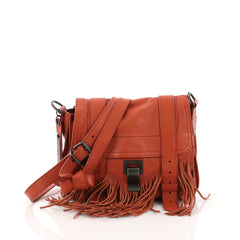 Proenza Schouler PS1 Pouch Fringe Leather Orange 3696402