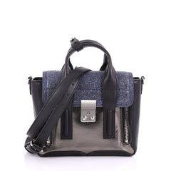 3.1 Phillip Lim Pashli Satchel Stingray and Leather Mini Blue 3697301