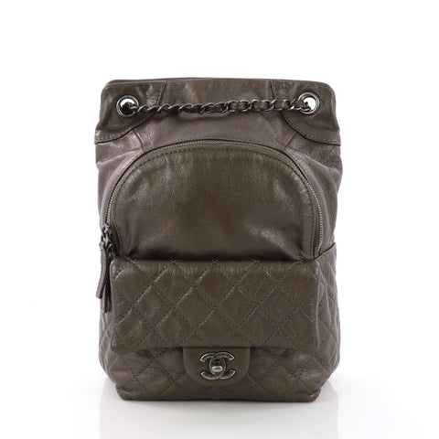 2d1c098634d2 Chanel Drawstring CC Flap Backpack Quilted Lambskin Small 370202 – Rebag