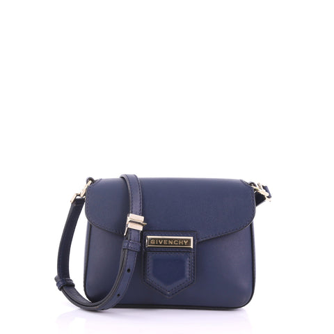 99f6a09a4b Buy Givenchy Nobile Crossbody Bag Leather Mini Blue 370291 – Rebag