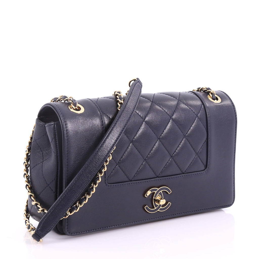cdadcb00cdc6 Chanel Mademoiselle Vintage Flap Bag Quilted Sheepskin Small 370411 ...