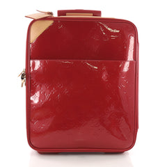 Louis Vuitton Pegase Luggage Monogram Vernis 45 Red 370701