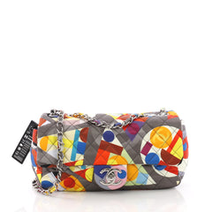 Chanel Coco Color Flap Bag Quilted Printed Nylon Medium 3707712