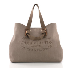Louis Vuitton Articles de Voyage Cabas Denim XL Brown 3707740