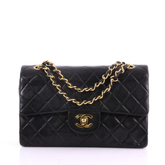 Chanel Vintage Classic Double Flap Bag Quilted Lambskin Small 370776