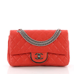 Chanel Vintage Metal CC Flap Bag Quilted Lambskin Small 370777