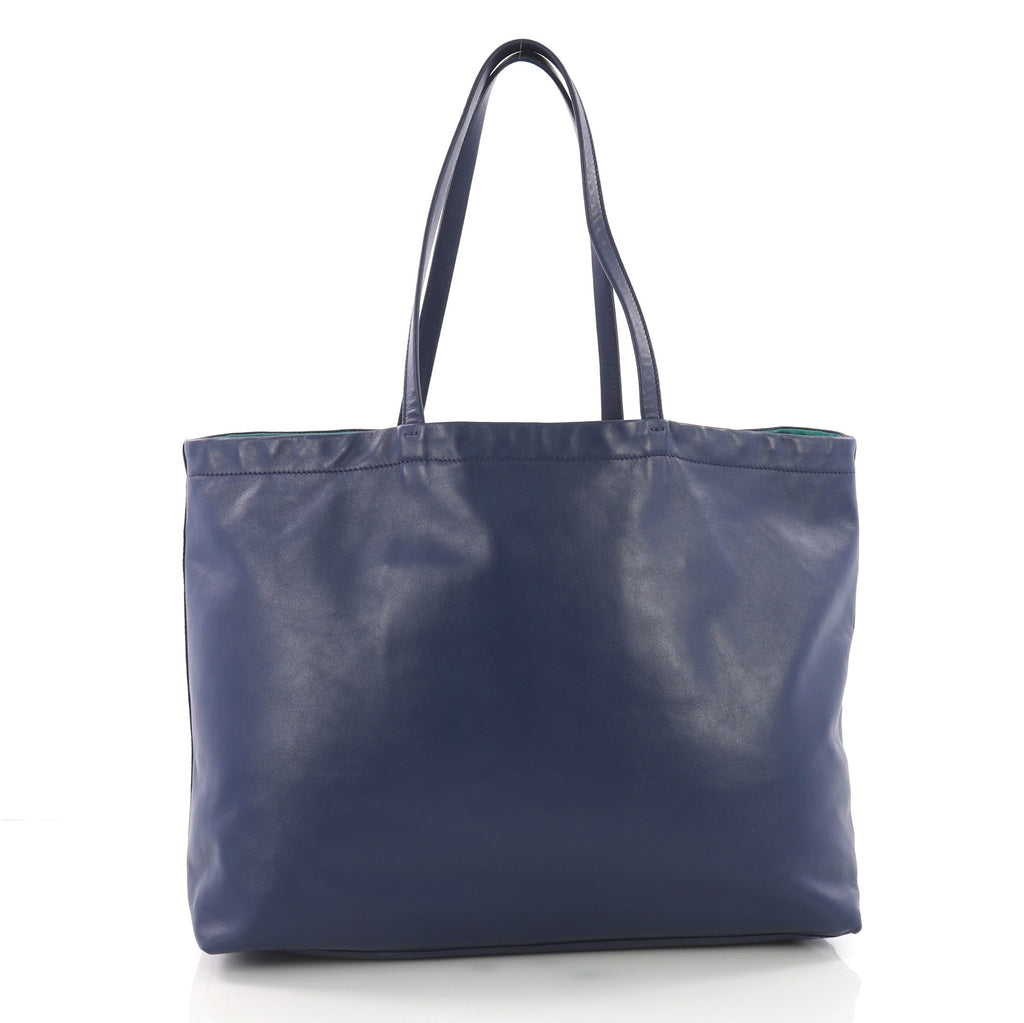 Prada Reversible Tote Soft Calfskin Large Blue 3707831 – Rebag 8ef892d82d